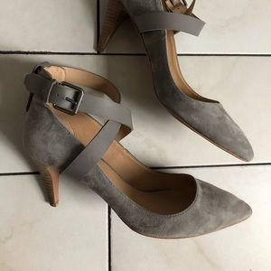 Joe's Jeans Gray Suede Aura Heel Pump